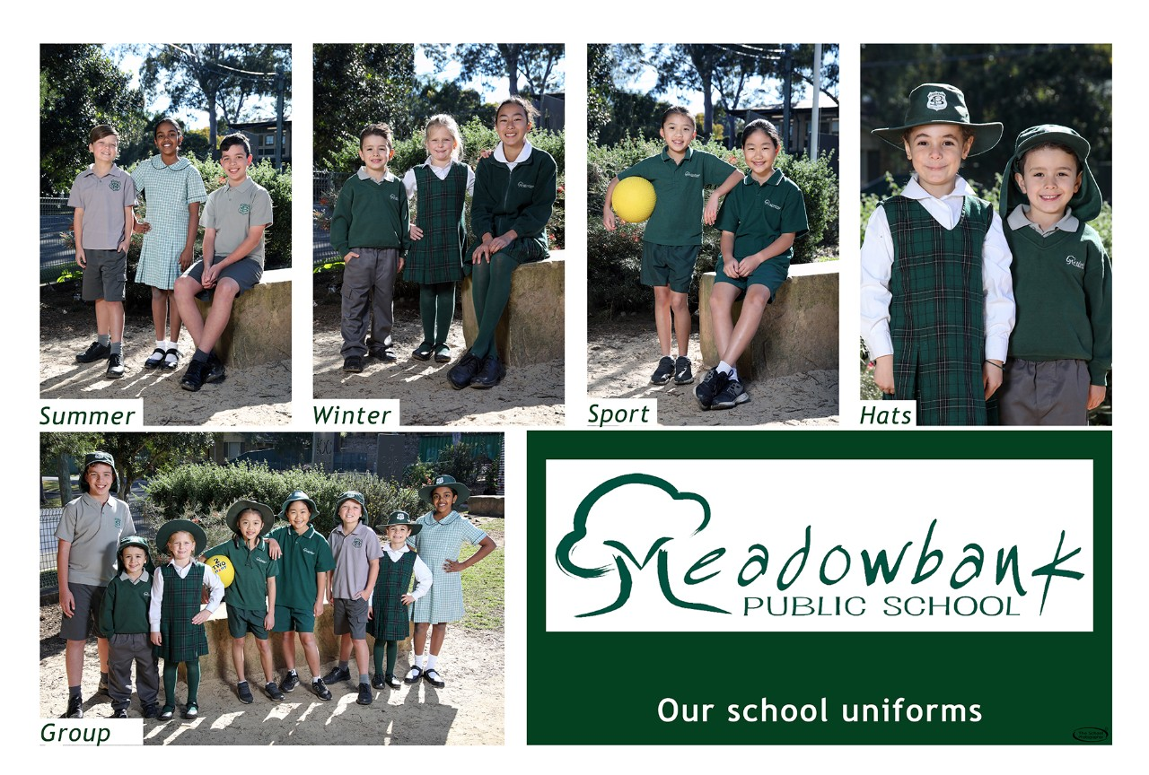 Some of our students in examples of our uniform.